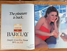 1981 Barclay Cigarettes Ad  The Pleasure is Back Sailing Lot of 2 Different Ads