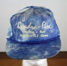Quadra-Fire Wood Stove Blue Tie Dye Strap Baseball Cap Hat
