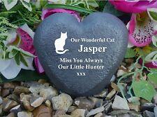 Cat Memorial - Heart - Personalised - Weatherproof - Perfect in your garden
