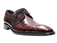 Men's Genuine Alligator Lace up Shoes BY Mezlan 3093 Luciano
