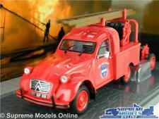 CITROEN 2CV MODEL VAN FIRE ENGINE 1:43 SCALE IXO UTILITAIRES + TRAILER K8