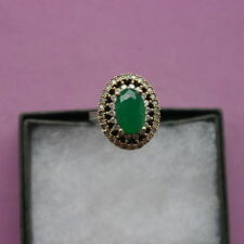 Emerald Shaped Topaz Sterling Silver Fine Rings