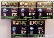 LML 200 Star (4T) (de 2011 a 2015) HIFLOFILTRO FILTRO DE ACEITE (HF207) X 5 Pack