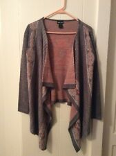 Wet Seal Womens Sweater Gray With Orange And White Aztec Print