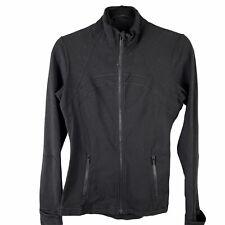 Lululemon Women Full Zip Stretchy Zip Pocket Sweatshirt Jacket sz 8 Nylon Lycra