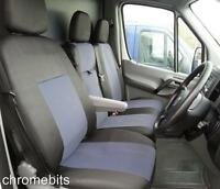 MERCEDES SPRINTER W906 2006+ SEAT COVERS TAILORED GREY-BLACK FABRIC FOR  2+1 RHD