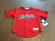NEW Cleveland Indians SEWN Red MLB Baseball Jersey Youth SZ 7 Boys Kids