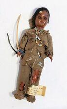 "Vintage Indian Doll Deerfoot & Brown Eagle Carlson Manufacturing 7 1/4"" Brown"