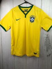 Nike Dry Fit Brazil Short Sleeve Soccer Shirt 2014 Kit Men's Size Medium