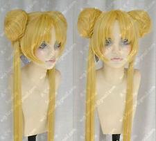 Sailor Moon Tsukino Usagi Cos Wig New Long Warm Blonde Cosplay Party Wigs Hair
