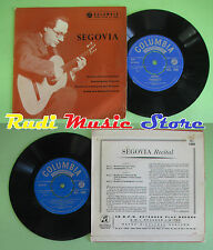 LP 45 7'' ANDRES SEGOVIA Nortena Fandanguillo Rondo on a theme by sor no cd mc