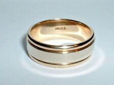 14K TWO TONE GOLD WEDDING BAND RING