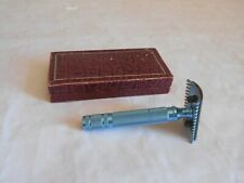 vintage safety razor CA Blue open comb french rasoir 1950s