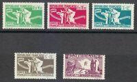 France 1943 MNH Mi 1-5 Sc B3-B6 Patriots & Maps of France. WW2 **