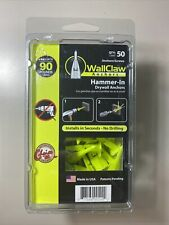 """New listing WallClaw Hammer-In Drywall Anchors 50Pk rated90# @ 1/2"""" or 125# @ 5/8 