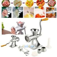 Aluminum Alloy Cast Iron Manual Meat Grinder Table Home Hand Mincer Vintage USA