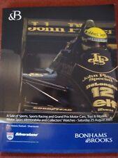 Bonhams & Brooks Car Auction Catalogue - 25 August 2001 - Silverstone