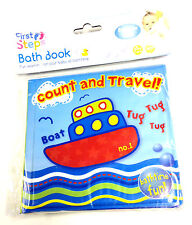 NEW BABY BATH BOOKS PLASTIC COATED KIDS TODDLER BATH TIME FUN EDUCATIONAL TOYS