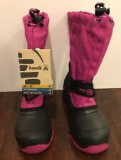 NEW Kamik Kids Snoday Insulated Winter Waterproof Snowboot Viola Youth Size 4M