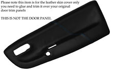 BLUE STITCHING FITS  VW LUPO 1998-2005 2X FRONT DOOR CARD LEATHER SKIN COVERS