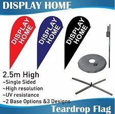 2.5m Outdoor DISPLAY HOME Teardrop Banner Teardrop Flag with Base