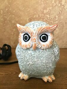 Tiffany Style Adorable Owl Table Lamp Night Light New in Box