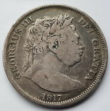 More details for 1817 king george iii half crown .925 silver coin lot 4