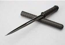 """HOT """"SWAT"""" """"SERRATED THREE BLADE"""" SURVIVAL RESCUE FIGHTING HUNTING BOWIE KNIFE"""