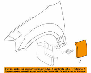Ford/Lincoln OEM 2007-2017 Navigator Fender Molding Right RH 7L7Z16A038APTM NIB
