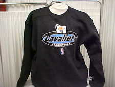 Official NBA Cleveland Cavaliers Game Worn Black Starter Crew Sweashirt Sz:Large