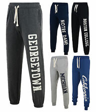 American Freshman Fleece Joggers Jogging Bottoms Sweat Pants Black Blue Grey