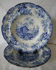 2 x Antique c1822-36 Minton Genevese Opaque China Deep Bowls
