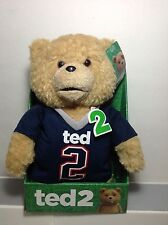 "Ted 2 Movie Explicit Language 11"" Talking Plush Teddy Bear Doll Patriots T Shirt"
