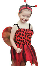 Child Red Ladybird Costume Fancy Dress Outfit Toddler 2-4 Years Outfit Book Week