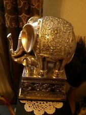 Vintage Thai elephants mother and baby figurine statue  RARE!