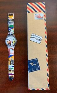 DESTINATION SWATCH Greetings from SAN FRANCISCO California in Box SO29Z103 RARE