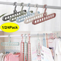 Rotating Nine-hole Hanger Multi-function Folding Magic Wardrobe Storage Rack