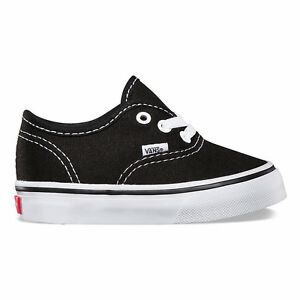 VANS AUTHENTIC INFANT SIZE SHOES FOR TODDLERS BLACK WHITE VN-0ED9BLK
