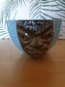 Gorgeous Porcelanas Pavon 'Two Faces' tiki mug