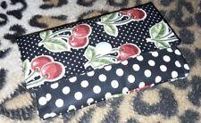Mini Geldbörse Cherrys DIY, schwarz *handmade*