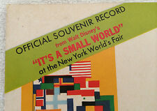 Small World Record 1963 New York Worlds Fair Disney It's A Souvenir 4 Languages