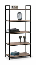 Tribeca Tall Bookcase in Sonoma Oak Effect and Powder Coated Steel Free Del