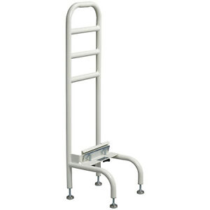 Drive Medical 15065R-1 Adjustable Height Steel Tube Home Bed Side Helper, White