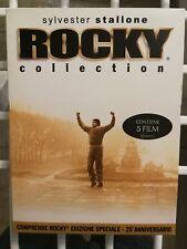COFANETTO SYLVESTER STALLONE - ROCKY COLLECTION  5 DVD RARO FUORI CATALOGO