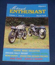 MOTORCYCLE ENTHUSIAST  VOLUME 1 ISSUE 4 MARCH/APRIL - SUZUKI & TRIUMPH