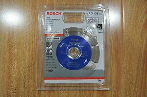 Bosch Diamond Cutting Disc 4'/105mm - Brand New / T#