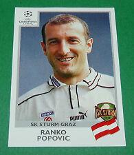N°108 POPOVIC SK STURM GRAZ AUTRICHE PANINI FOOTBALL CHAMPIONS LEAGUE 1999-2000