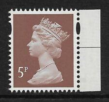 GB 2013 U3073 5p Dull Red Brown M13L MPIL Navy booklet stamp MNH ex U3012g