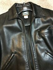 Roots Black Glove Leather Jacket Coat 2 Vintage