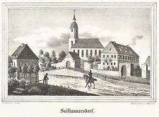 SEIFHENNERSDORF - Kreuzkirche - Kirchen-Galerie - Lithografie 1840